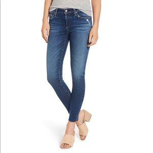 AG The Legging Raw Hem Ankle Skinny Jeans 27